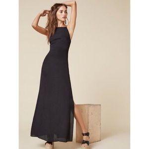 Reformation Black Cera Dress